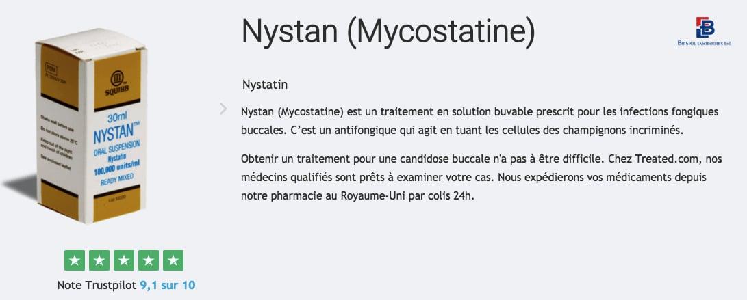 Traitement de la candidose buccale avec Mycostatine (Nystan)