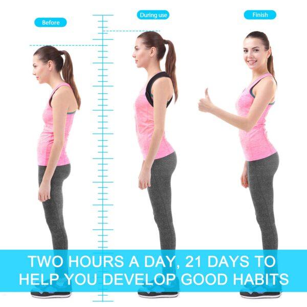 Tenez vous droit grâce au correcteur de posture